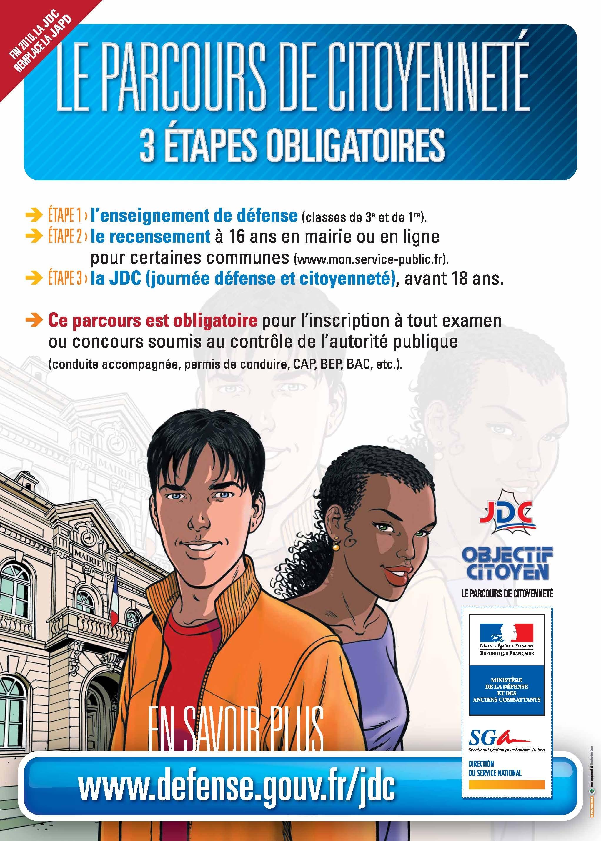 Parcours de citoyennet pontoise - Bureau de service national du lieu de recensement ...