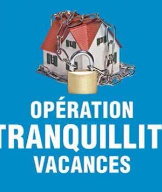 """Affiche """"Opération Tranquilité Vacances"""""""