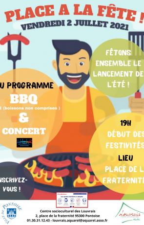 BBQ et Concert par la maison de quartier des Louvrais