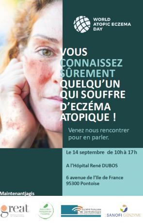 Journée mondiale de l'eczéma atopique à l'hôpital de Pontoise