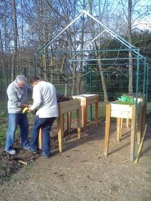 La nouvelle serre du jardin potager