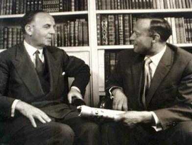 Adolphe Chauvin et Wolfgang Brumme ont initié le jumelage entre Pontoise et Böblingen en 1955. © Archives de Pontoise