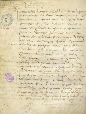 Prêt de 300 écus d'or - Archives Municipales de Pontoise, cote CC8 A/10