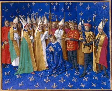 Couronnement de Philippe Auguste en 1179 - © DR
