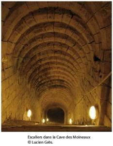 Escaliers de la cave des moineaux