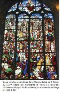 Vitrail Cathédrale Saint-Maclou par E.Didron
