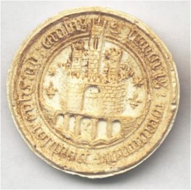 Sceau datant vraisemblablement du 14e siècle