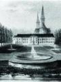 1974 : Abbaye Saint-Martin; Palais et parcdescendant vers l'Oise (ADVO, Cellule inventaire du patrimoine)
