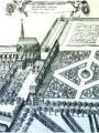 Abbaye Saint-Martin en 1674, reproduction collection Henri Le Charpentier gravure noire et blanc