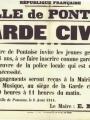 Afin de faciliter le travail de la police qui est très sollicitée, la Ville de Pontoise diffuse une annonce pour inciter les jeunes âgés de 16 à 18 ans à s'engager dans la Garde Civile