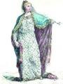 """""""Blanche de Castille"""" par Duflos Paris XVIIIème siècle Portrait de Blanche de Castille, reine de France et mère de Louis IX (Saint Louis)"""