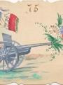 Carte peinte à l'occasion de la Journée du canon de 75 (Fonds Mougenot)