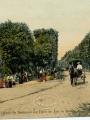 Carte postale illustrant le boulevard des Fossés où se déroulait l'un des marchés hebdomadaires de Pontoise