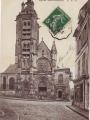Carte postale illustrant la cathédrale Saint-Maclou - Février