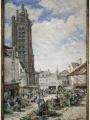 Église, peinture de Ludovic Piette