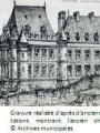 Gravure parc du château