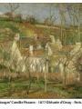 Oeuvre de Camille Pissaro - Les toits rouges, coin de village, effet d'hiver
