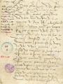Mandement 1556 - Archives Municipales de Pontoise, cote AA3