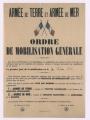 Suite au décret du Président de la République, un ordre de mobilisation générale est fixé le 2 août à Pontoise
