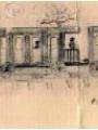 Le petit train départemental en 1950 (dessin de J.L. Letu)