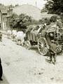 Photographie datant de 1914 illustrant des réfugiés rue Carnot (Fonds Duvivier)