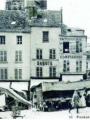Place du Grand Martroy 1900-1920, carte postale - Collections Musée de Pontoise et Bibliothèque municipale
