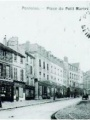 Place du Petit Martroy 1900-1920, carte postale - Collections Musées de Pontoise et Bibliothèque municipale