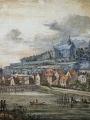 Louis Signy, XVIIIème siècle, Pontoise en 1792, aquarelle sur papier, 190 x 260 mm, Musées de Pontoise