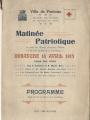 Le programme de la matinée patriotique du dimanche 18 avril 1915 (Archives municipales)