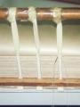 Les supports de couture ont été repositionnés à l'identique et les passages de couture originels réutilisés