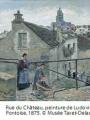 Rue du Château, peinture de Ludovic Piette