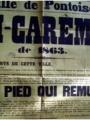 affiche de la Mi-Carême