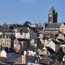 Vue de Pontoise depuis le jardin des cinq sens